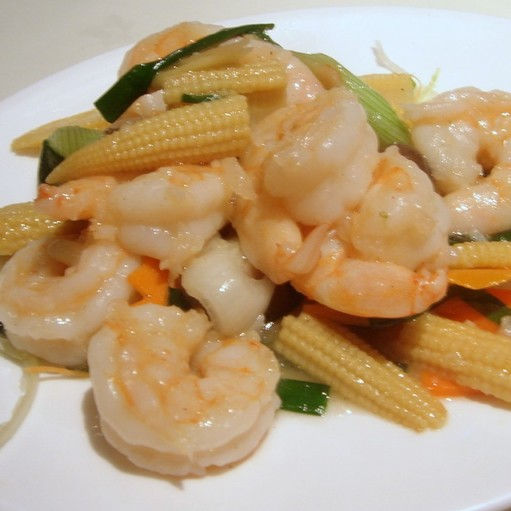 King Prawn with Ginger and Spring Onion