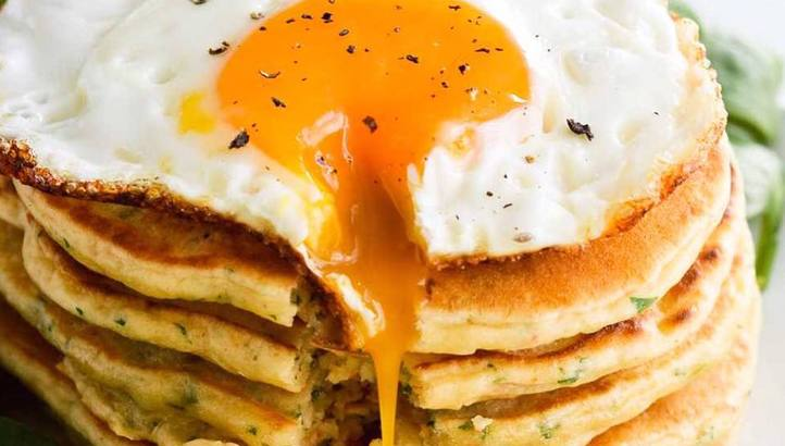 Savoury Pancakes with Fried Egg