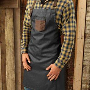 Faux Leather Strap Apron | Kwoklyn Wan